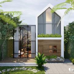 THIẾT KẾ BIỆT THỰ SÂN VƯỜN ECOPARK – THÁCH THỨC MỌI GIỚI HẠN:  Nhà by Green Interior, Hiện đại