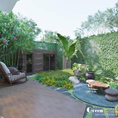 THIẾT KẾ BIỆT THỰ SÂN VƯỜN ECOPARK – THÁCH THỨC MỌI GIỚI HẠN:  Vườn by Green Interior,