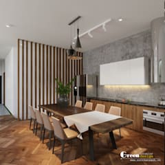 THIẾT KẾ BIỆT THỰ SÂN VƯỜN ECOPARK – THÁCH THỨC MỌI GIỚI HẠN:  Phòng ăn by Green Interior