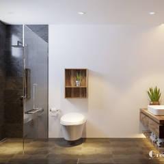 THIẾT KẾ BIỆT THỰ SÂN VƯỜN ECOPARK – THÁCH THỨC MỌI GIỚI HẠN:  Phòng tắm by Green Interior,