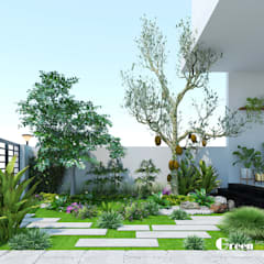 """""""BIỆT THỰ CUỐI TUẦN"""" VINHOMES THĂNG LONG:  Vườn by Green Interior"""