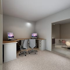 OFFICE DESIGN (CRODA):  Office buildings by Matter Of Space Pvt. Ltd.