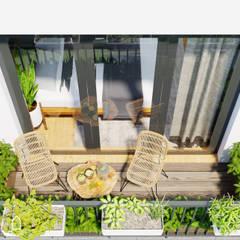 BIỆT THỰ VINHOMES THĂNG LONG : CÓ CĂN NHÀ NẰM NGHE NẮNG MƯA:  Vườn by Green Interior,