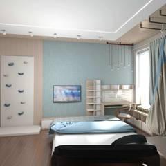 Projekty,  Pokój dla chłopca zaprojektowane przez студия дизайна Ольги ковалевой