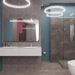 Квартира на Мосфильмовской: Ванные комнаты в . Автор – LA Interior, Модерн