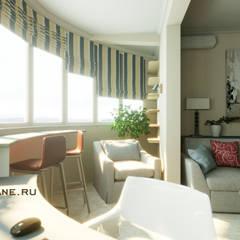 Двухкомнатная квартира 58 м.кв. Сочи, ЖК «Сияние Сочи», ул.Виноградная.: балконы в . Автор – Lidiya Goncharuk,