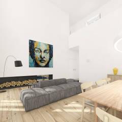 Casa em Lisboa, Portugal 2019 Salas de jantar minimalistas por martimsousaemelo Minimalista Madeira Acabamento em madeira