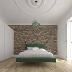 غرفة نوم تنفيذ martimsousaemelo , تبسيطي حجر