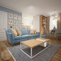Mieszkanie w centrum Wrocławia: styl , w kategorii Salon zaprojektowany przez Nevi Studio