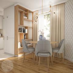 Mieszkanie w centrum Wrocławia: styl , w kategorii Jadalnia zaprojektowany przez Nevi Studio,