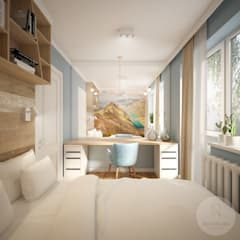 Small bedroom by Nevi Studio, Eclectic