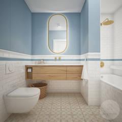Baños de estilo  por Nevi Studio, Escandinavo