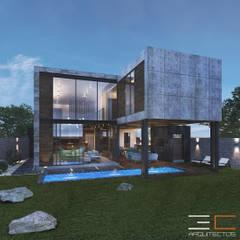 Residencia LA [León, Gto.]: Casas unifamiliares de estilo  por 3C Arquitectos S.A. de C.V.