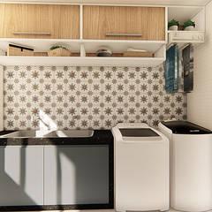 Muebles de cocinas de estilo  por Polliana Pertence Arquitetura e Interiores