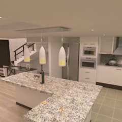 : Cocinas equipadas de estilo  por adc arquitectos