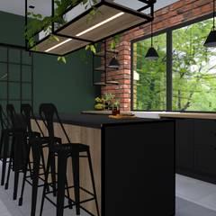 Projekt domu jednorodzinnego : styl , w kategorii Kuchnia zaprojektowany przez KADA WNĘTRZA S.C.