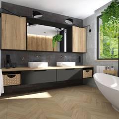 Baños de estilo  por KADA WNĘTRZA S.C.,