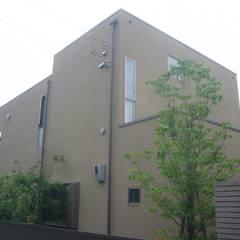 三つの陸屋根を持つコートハウス: 三浦尚人建築設計工房が手掛けた一戸建て住宅です。,