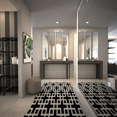 HAZER INTERIOR DESIGN STUDIO – Sinpaş Marina:  tarz Koridor ve Hol, Modern