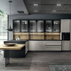 ครัวบิลท์อิน โดย L&M design di Marelli Cinzia, โมเดิร์น ไม้ Wood effect