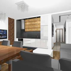 Salony w mieszkaniach - mix.: styl , w kategorii Aneks kuchenny zaprojektowany przez MAXDESIGNER