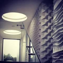Casa CR6: Paredes de estilo  por O+C674 Arquitectos, Moderno