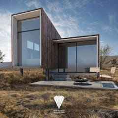Passive house by Diamante Arquitectura, Mediterranean Solid Wood Multicolored