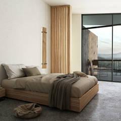 غرفة نوم تنفيذ Diamante Arquitectura,