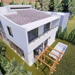 Casa Vanegas Estupiñan: Espacios comerciales de estilo  por Dubrovsky Arquitectura