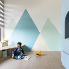 Nursery/kid's room by 寓子設計, Scandinavian
