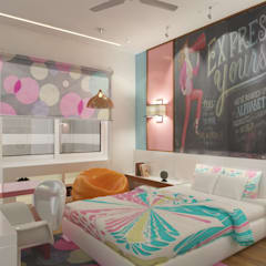 Dheeraj Residence, Meera Bagh, New Delhi Eclectic style bedroom by Space Interface Eclectic