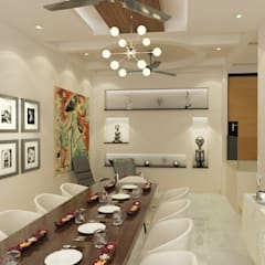 Dheeraj Residence, Meera Bagh, New Delhi Eclectic style dining room by Space Interface Eclectic