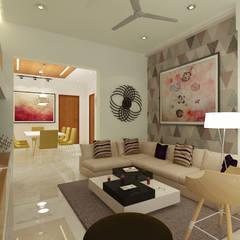 Ruang Keluarga oleh Space Interface, Modern