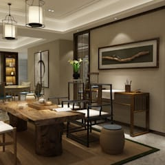 Residence in Gurugram:  Dining room by Space Interface,Modern