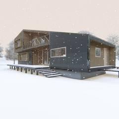 منزل عائلي صغير تنفيذ casa rural - Arquitectos en Coyhaique,