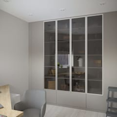 Четырехкомнатная квартира в современном стиле: Рабочие кабинеты в . Автор – ARTWAY центр профессиональных дизайнеров и строителей,