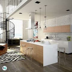 Built-in kitchens by Blok4 Constructora,
