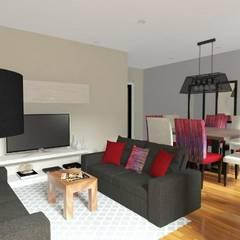 Diseño interior Online: Salas / recibidores de estilo  por Deco Abitare
