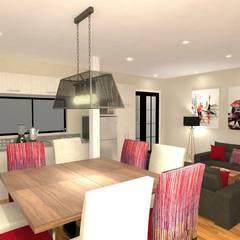 Diseño interior Online: Comedores de estilo  por Deco Abitare, Moderno