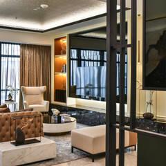 Ritz Carlton Residence Kuala Lumpur:  Living room by Blaine Robert Design Sdn. Bhd., Modern