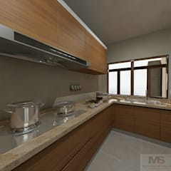Small kitchens by Matter Of Space Pvt. Ltd., Minimalist Quartz