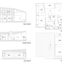 3断面の家: PODAが手掛けた一戸建て住宅です。