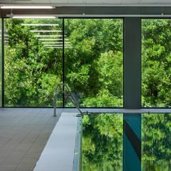 Estadios de estilo moderno de asieracuriola arquitectos en San Sebastian Moderno Aluminio/Cinc