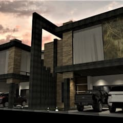 PROYECTO FUENTES: Casas multifamiliares de estilo  por NUNDALET