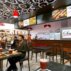 Çeliker Mimarlık – Fast Food Mekanı Tasarımı:  tarz Yeme & İçme