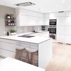 Diseños Modernos : Cocinas de estilo  por PROYECTOS EN MELAMINE, Minimalista