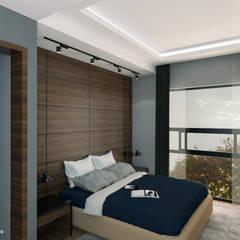 EB 54 Casa Habitación : Recámaras pequeñas de estilo  por Proyecto 3Catorce