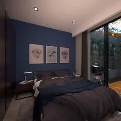 Mar AZOF 60 Conjunto Habitacional : Recámaras pequeñas de estilo  por Proyecto 3Catorce