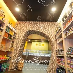 Дизайн-проект для магазина эко-мяса.. площадью 45 м2: Коммерческие помещения в . Автор – Студия дизайна ALIONA SAJIN DESIGN SOLUTIONS, Лофт