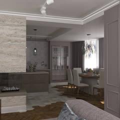 квартира с двумя эркерами: Столовые комнаты в . Автор – Дизайн студия Юлии Ковалевской, Эклектичный
